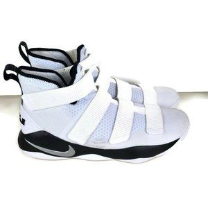 Nike LeBron Soldier XI White Black Metallic BBall